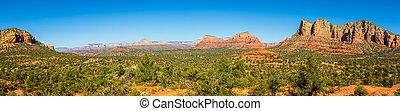 Panorama image of the landscape of Sedona Arizona