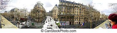 panorama in Paris - View from Promenade Plantee, Paris