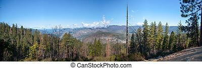 Panorama in Yosemite