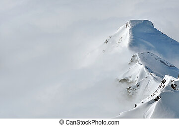 panorama, inverno, montanhas