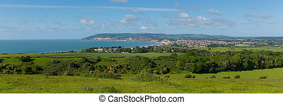 Panorama Isle of Wight Shanklin - Bay and coastline Shanklin...