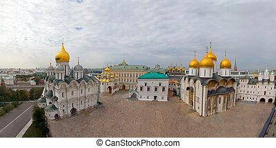 Panorama Ivan square of the Kremlin. Russia