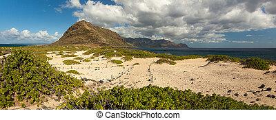 panorama, kaena, krajobraz, kropka