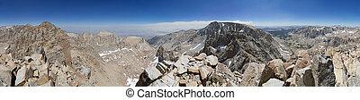 panorama, kamm, bergrücken, 360 grade