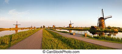 Panorama Kinderdijk