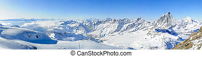 panorama, kl., matterhorn