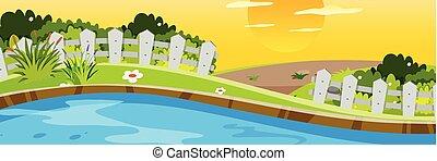 panorama, krajobraz, natura