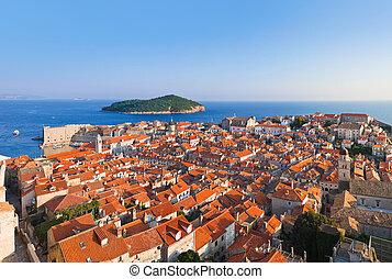 panorama, kroatien, dubrovnik