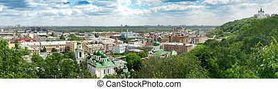 panorama, kyiv, sommer