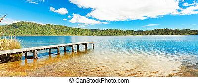 panorama, lac