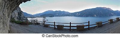 panorama, lago, garda, di