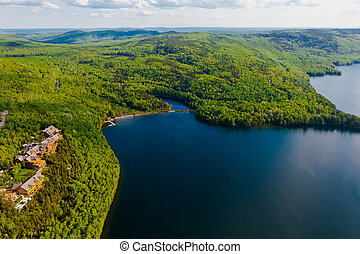 lake of sacacomie  in quebec canada