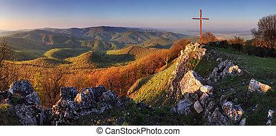 Panorama landscape at sunset - Slovakia Mountain