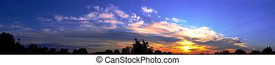 panorama, levers de soleil