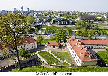panorama, lituano, vilnius, capital
