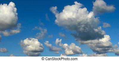 panorama, lys himmel