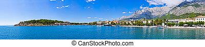 panorama, makarska, kroatien