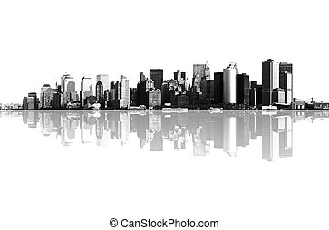 panorama, manhattan, york, nouveau