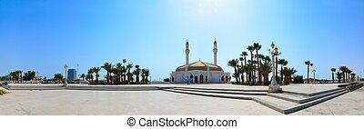 panorama, meczet, jeddah, anani