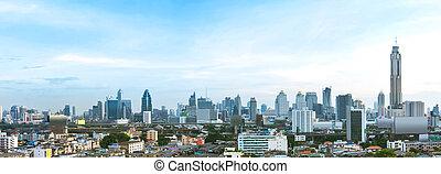 Panorama Modern building - Panorama cityscape, modern...