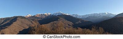 panorama, montagnes
