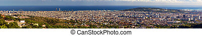 panorama montanha, -, barcelona, espanha, tibidabo