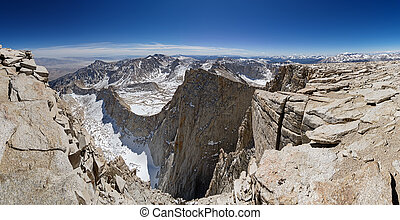 panorama, monte, cumbre, whitney