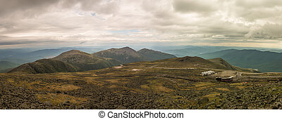 panorama, monter, washington
