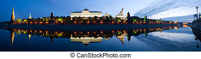 panorama Moscow Kremlin in the morning