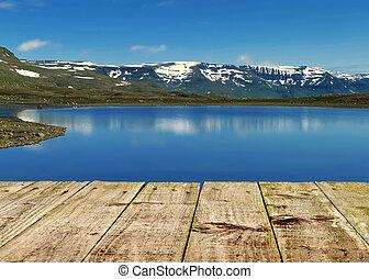 Panorama mountain lake