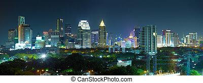 Panorama night city - Thailand, Bangkok