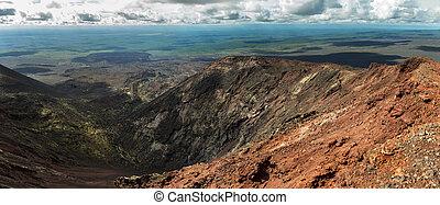Panorama North Breakthrough Great Tolbachik Fissure Eruption 1975