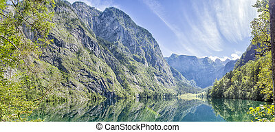 panorama, obersee, lac