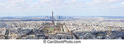 panorama, od, paryż