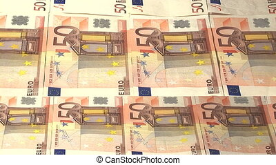Panorama of 50 euros notes in High Definition