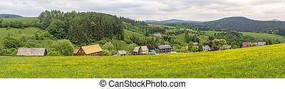 panorama of a beautiful german village in a valley