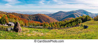 beautiful rural countryside of Romania - panorama of a...