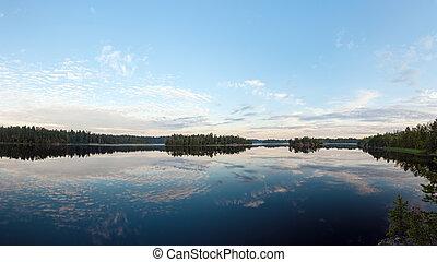 lake on a summer morning