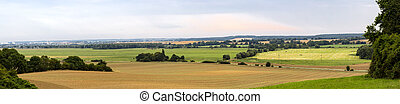 panorama of a landscape in mecklenburg, germany