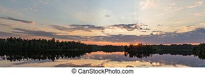 Panorama of a summer sunset