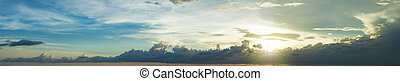 Panorama of a sunset sky
