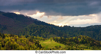 panorama of a wonderful countryside in mountains
