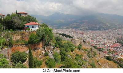 panorama of Alanya Turkey - view from fortress