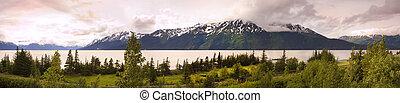 Panorama of alaska - Panorama of Alaska, with the turn...
