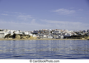 Panorama of Albufeira in Portugal