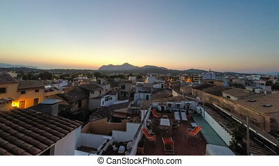 Panorama of Alcudia Old Town in Majorca Mallorca Balearic...