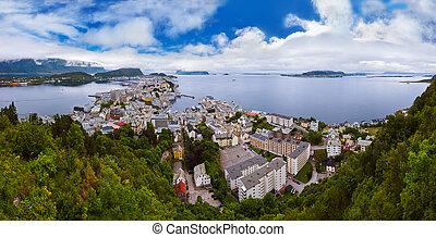 Panorama of Alesund Norway