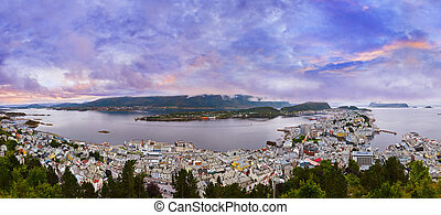 Panorama of Alesund - Norway