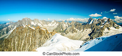 Panorama of alpine mountains