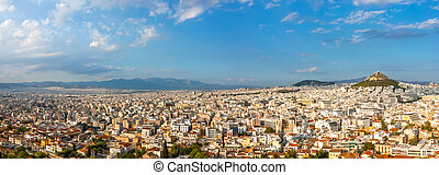 Panorama of Athens on a Summer Sunny Day